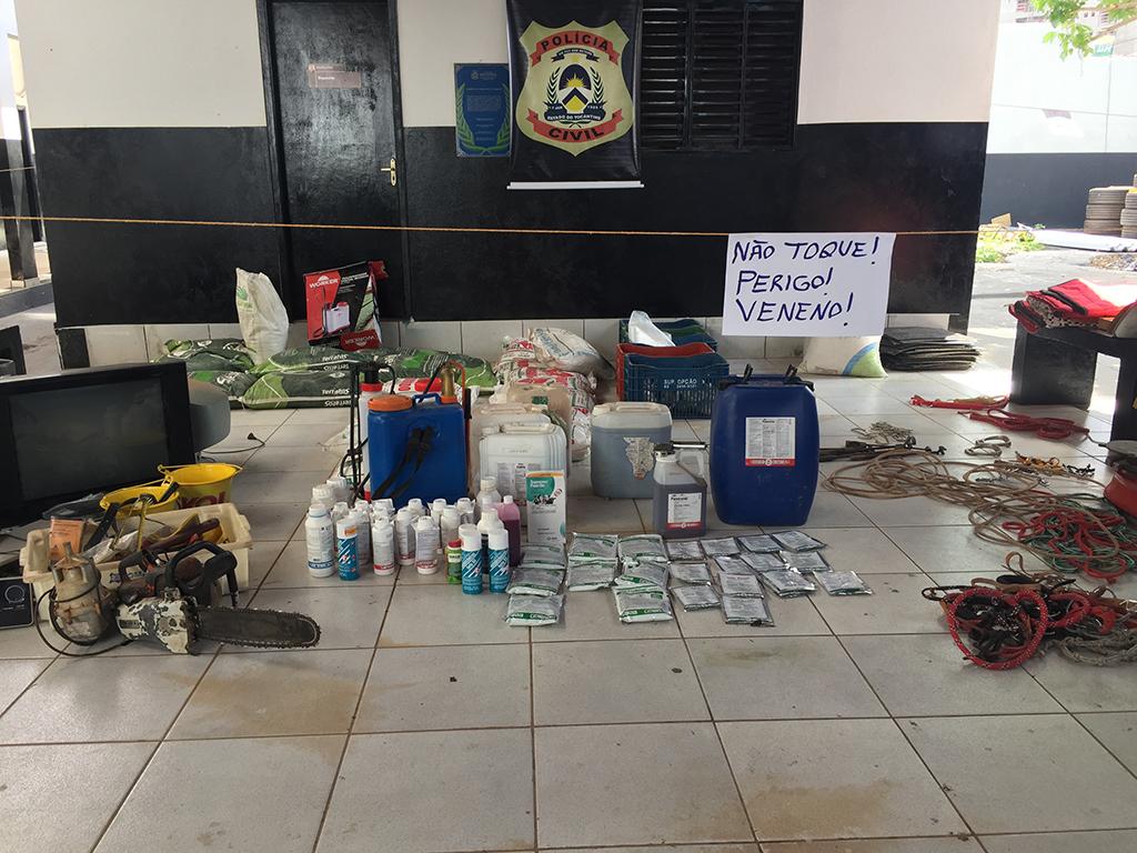 Polícia Civil recupera centenas de produtos agropecuários furtados de fazendas da região de Araguaína