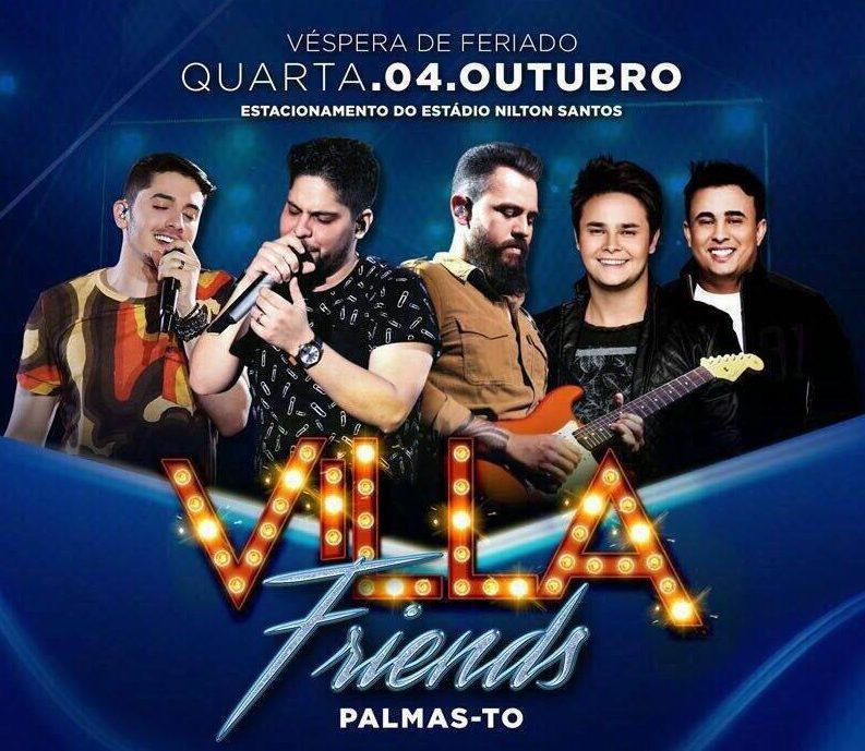 Mais de 3.500 pessoas já garantiram ingressos para o Villa Friends em Palmas