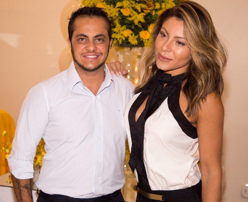 Thammy Miranda e Andressa Ferreira marcam presença em festa em SP