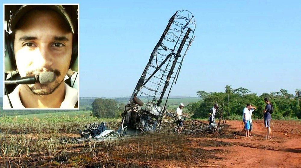 Piloto que morreu após queda de avião em SP é enterrado no Tocantins