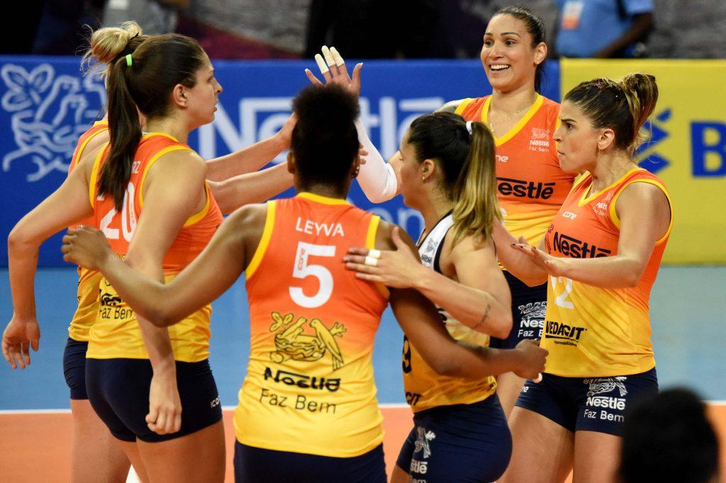 Vôlei Nestlé luta por vaga na semifinal da Copa do Brasil contra Hinode Barueri