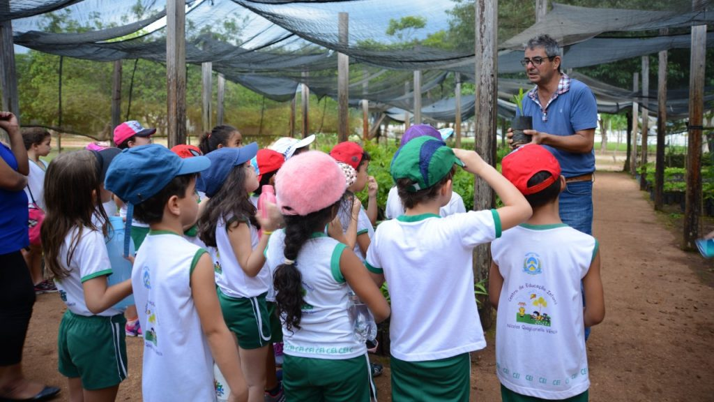 Grupo de alunos visita Viveiro Educador em Palmas