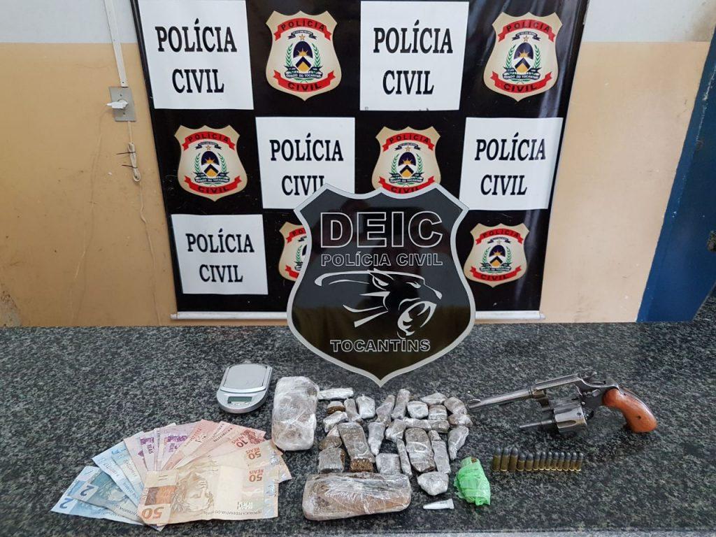 Polícia Civil prende suspeitos por tráfico de drogas e porte ilegal de arma de fogo em Gurupi