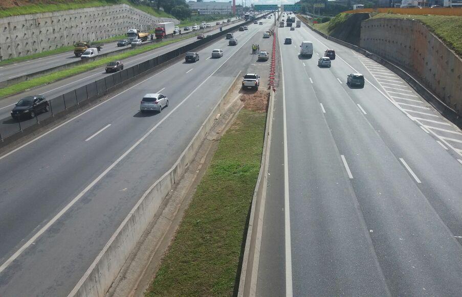 Obras de implantação do novo trevo Jacu Pêssego exigem mudanças no trânsito da via Dutra, em Guarulhos (SP)