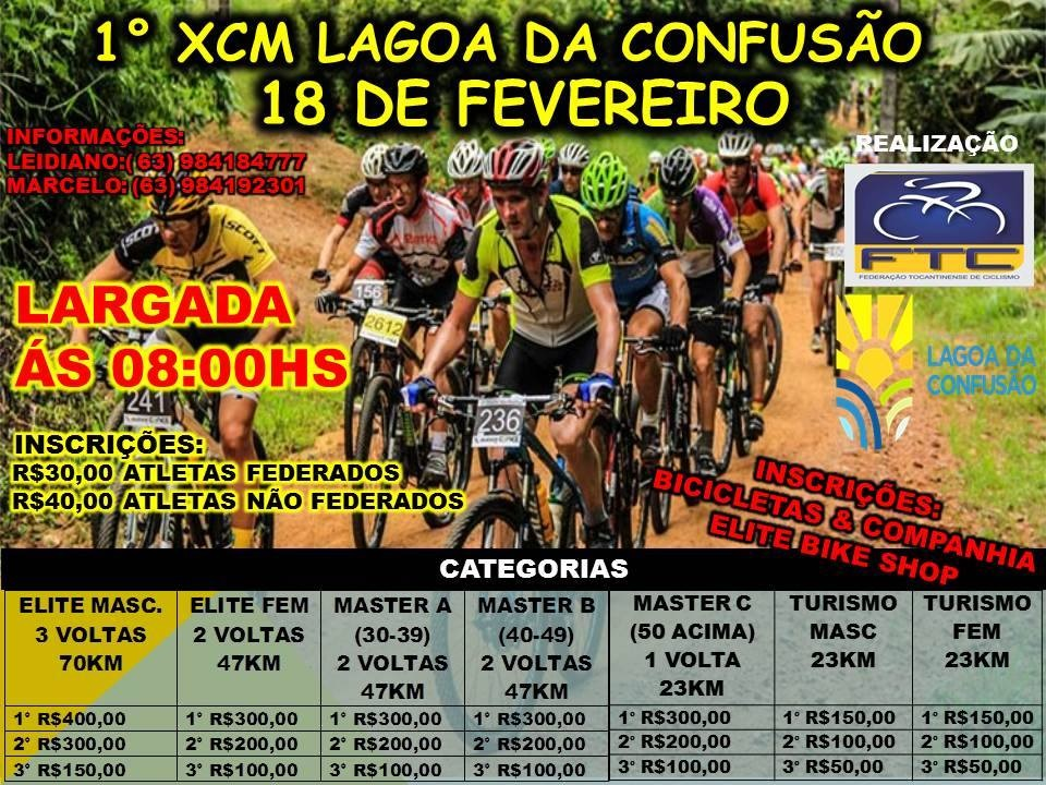 Palmenses disputarão XCM em Lagoa da Confusão na abertura do calendário do MTB tocantino