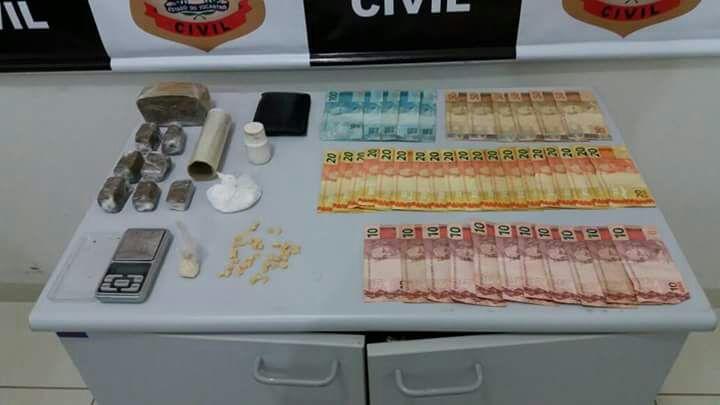 Polícia Civil de Lagoa da Confusão com apoio do Ciopaer e Polícia Militar prende traficante de drogas