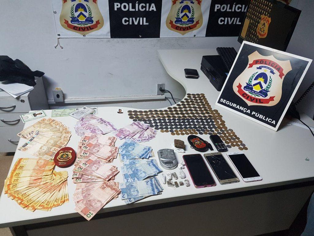 Polícia Civil apreende drogas e quase R$ 2 mil reais em poder de traficante em Araguaína