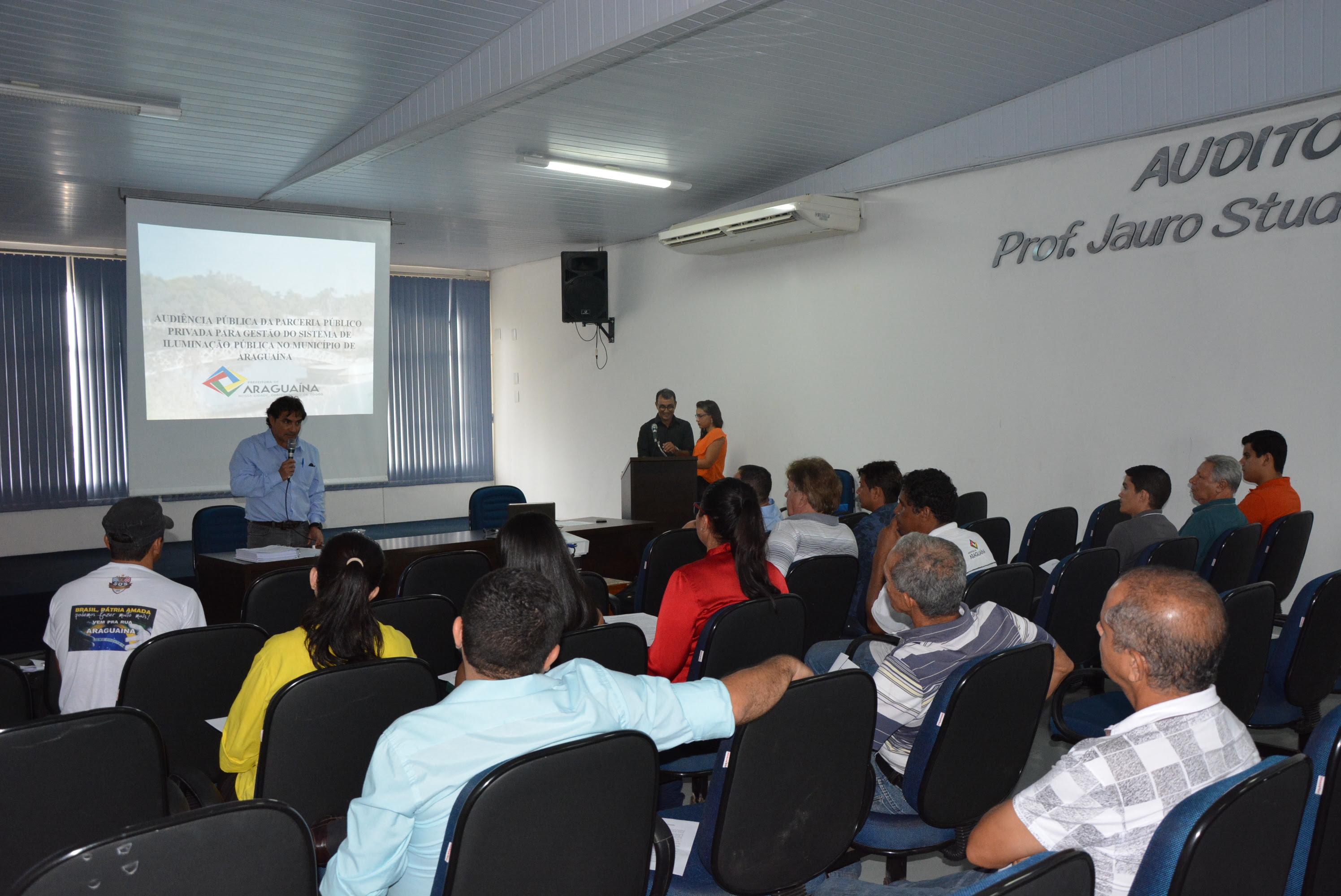 Prefeitura realiza audiência pública para discutir execução do Araguaína Conectada