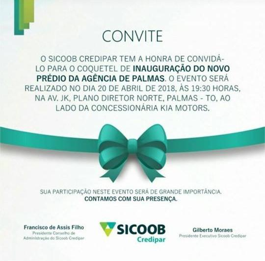 Sicoob Credipar inaugura novo prédio da agência de Palmas nesta sexta-feira (20)