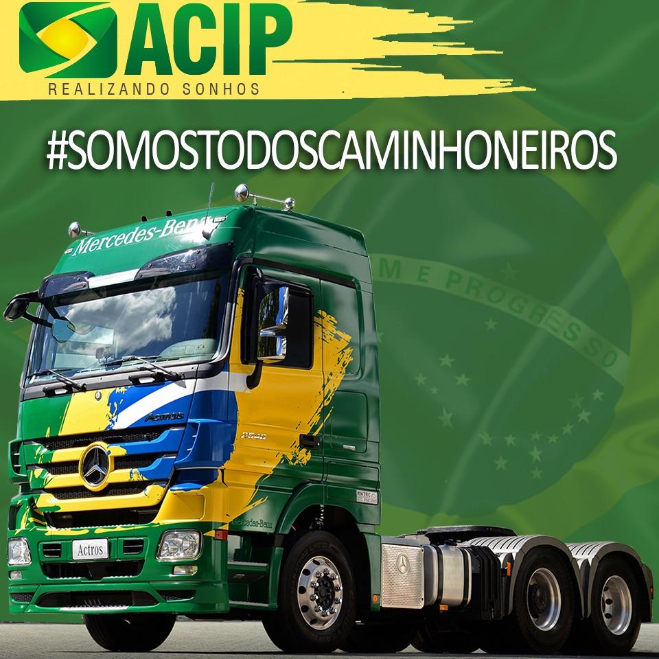 Greve dos caminhoneiros recebe apoio da ACIP em Paraíso do Tocantins