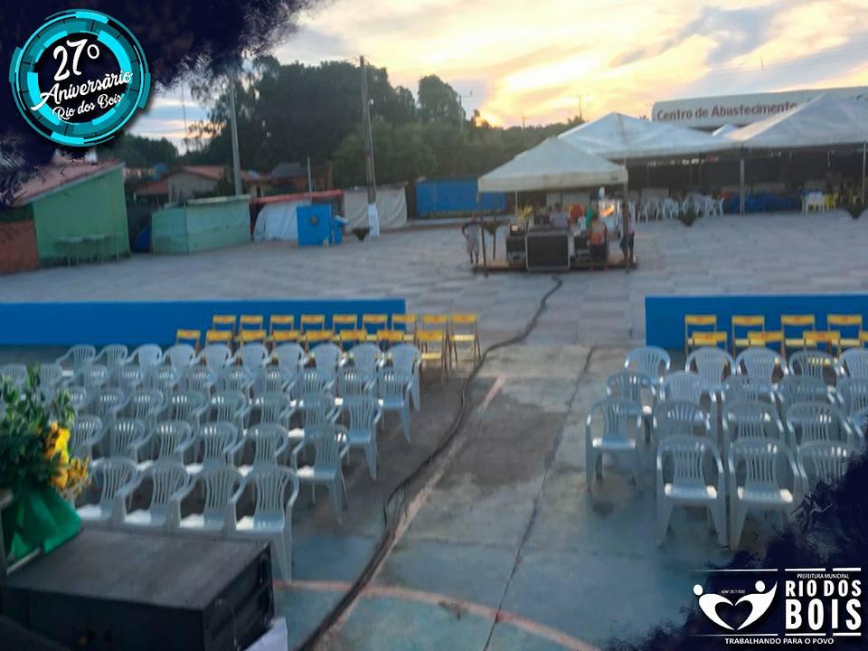 Praça de Eventos é inaugurada durante comemorações do 27º aniversário de Rio dos Bois