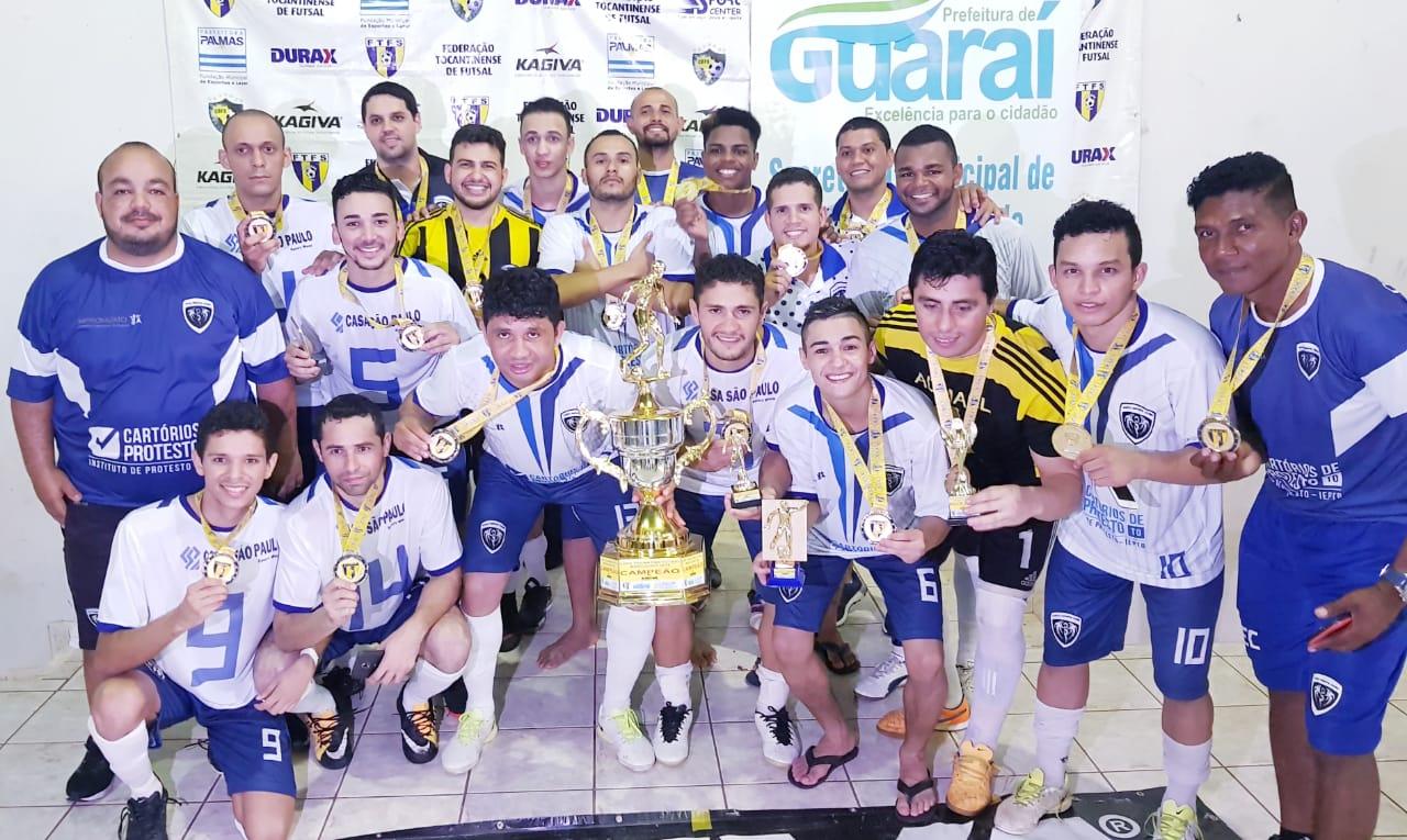 Porto é campeão da 1ª Copa Tocantins de Futsal 2018
