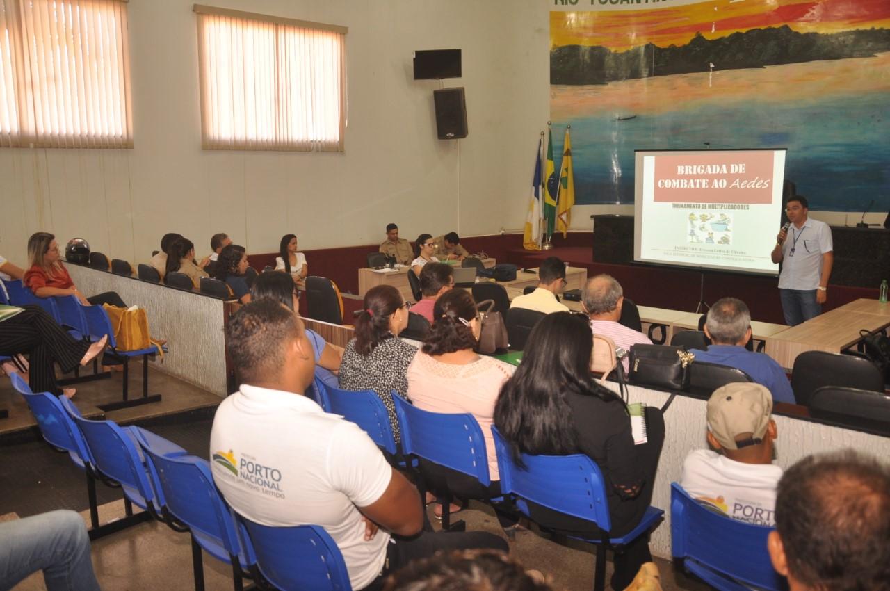 Secretaria Municipal da Saúde de Porto Nacional realiza Curso de Brigadistas em combate ao mosquito Aedes Aegypt