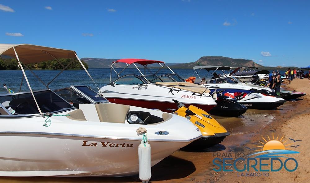 Aventura no passeio náutico realizado nesse sábado (16) entre Palmas e Lajeado
