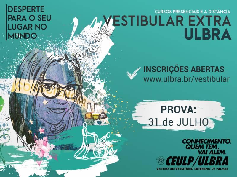Ceulp/Ulbra está com inscrições abertas para o Vestibular Extra