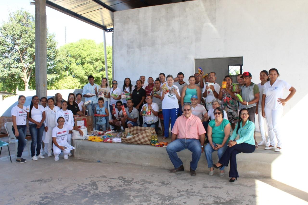 Alimentos arrecadados na Pedala Cultural da Coapa são entregues à APAE de Pedro Afonso