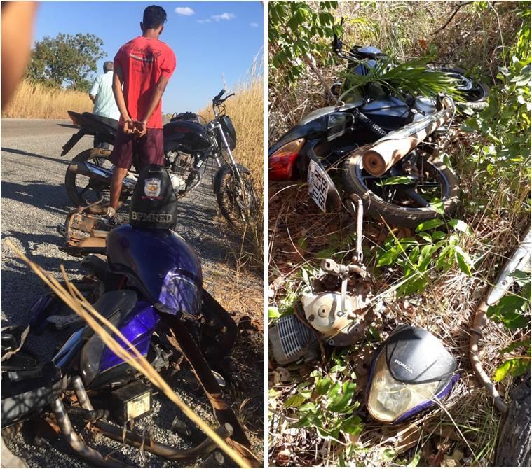 PM prende em Paraíso menor acusado de vender motos furtadas na internet