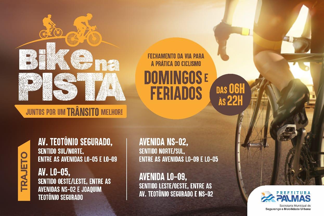 Projeto Bike na Pista será suspenso no próximo domingo, 22