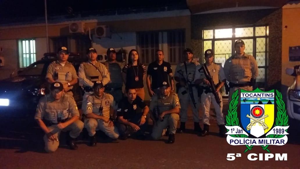 """5ª CIPM realiza """"Operação Sossego Público""""em Tocantinópolis"""