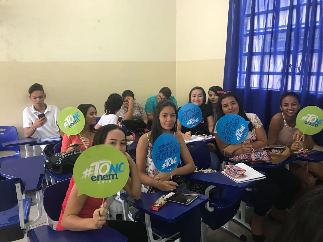 Mais de 3 mil estudantes da rede estadual participam de aulões preparatórios para o Enem no Tocantins