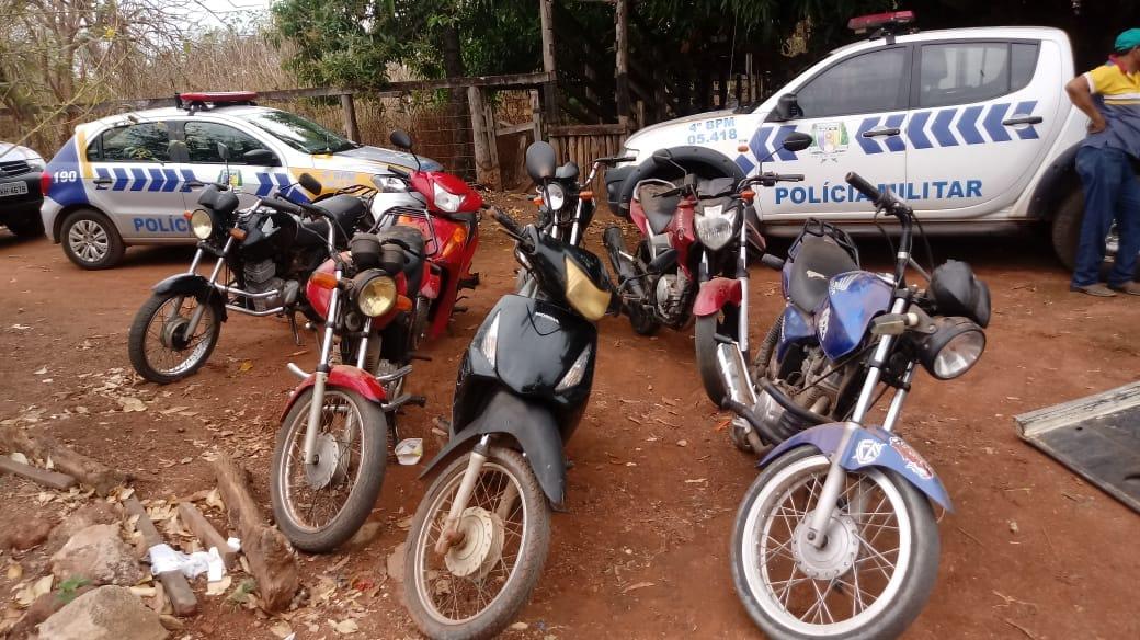 PM em Gurupi localiza 10 motos furtadas de um depósito municipal