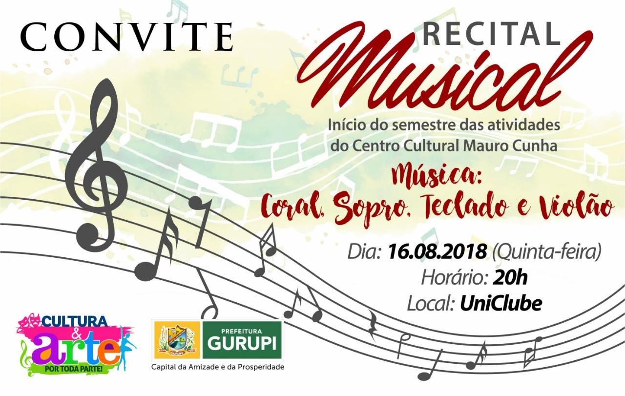 Centro Cultural Mauro Cunha de Gurupi inicia atividades com Recital Musical