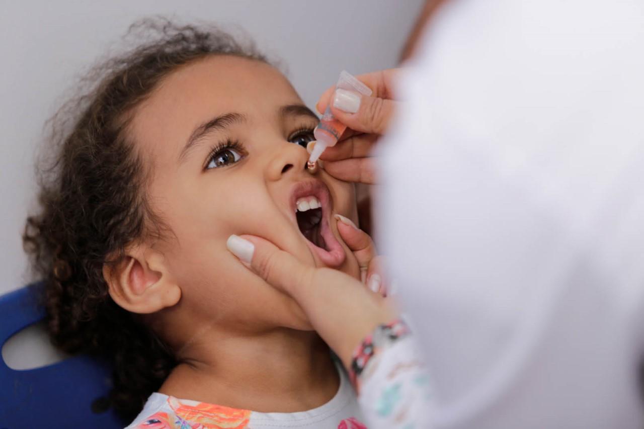 Vacinação contra poliomielite e sarampo em Palmas tem mais de 40% de crianças imunizadas
