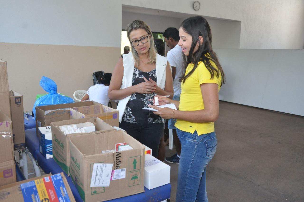 Caravana da Saúde leva atendimento multiprofissional ao Assentamento Cabeceira Redonda em Luzimangues