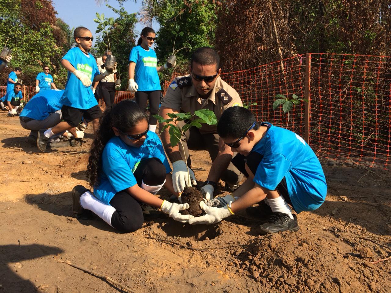 No Dia da Árvore, BRK Ambiental e estudantes realizam limpeza e plantio de mudas em Colinas (TO)