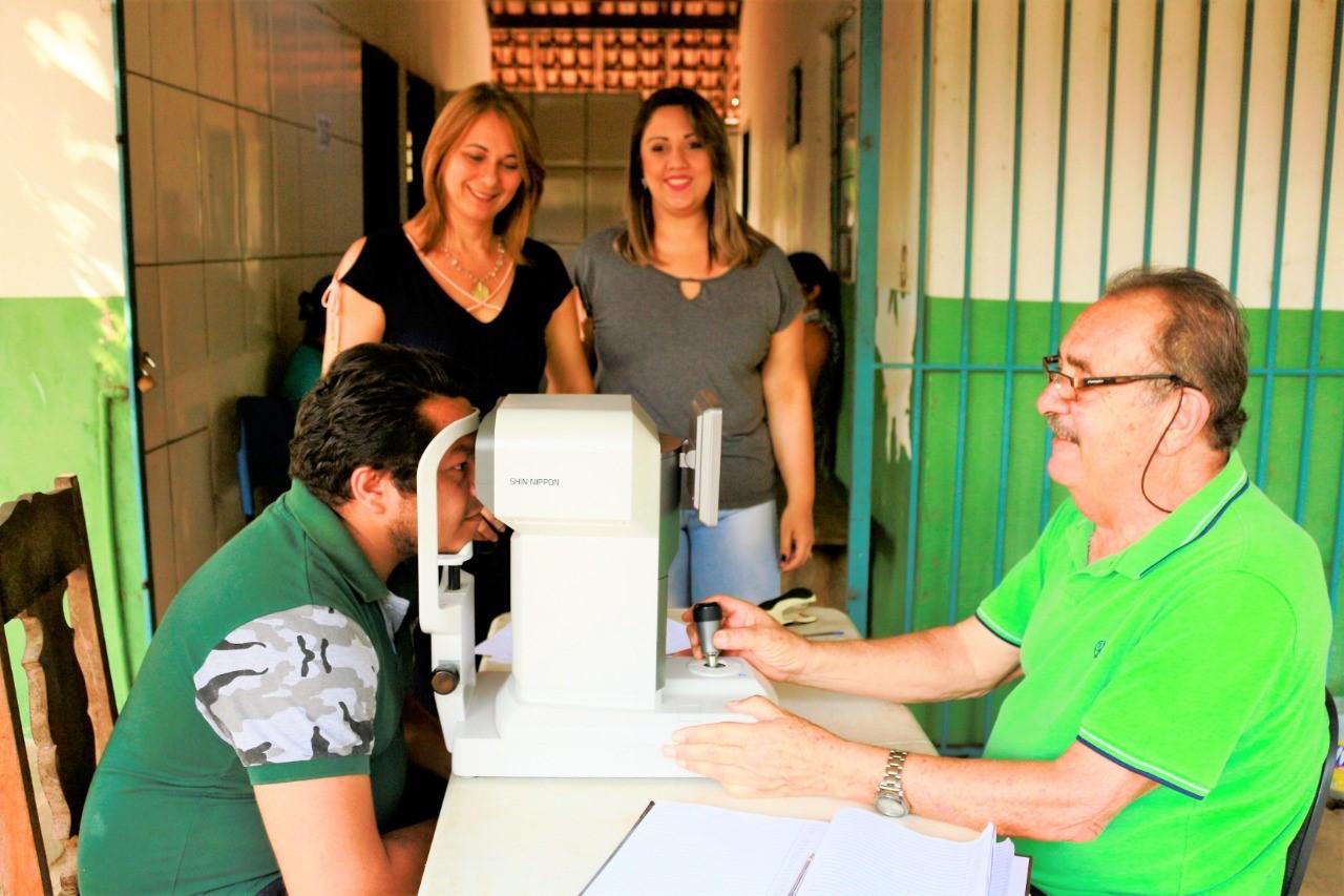 Moradores de Tocantínia são beneficiados com atendimento oftalmológico gratuito