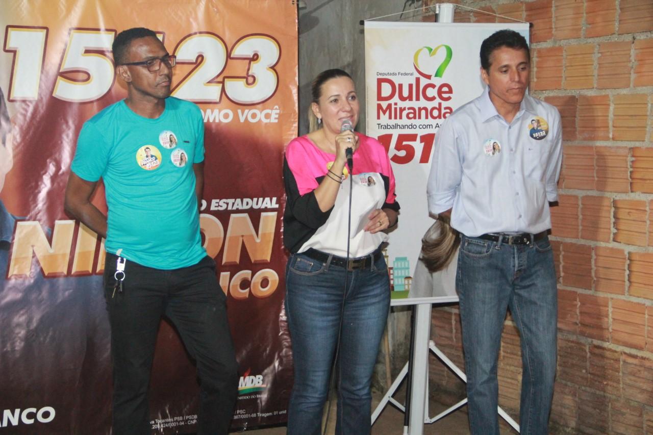 Comunidade da região Sul de Palmas abraça campanha de Dulce Miranda
