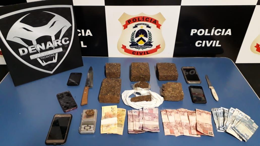 Polícia Civil apreende várias porções de maconha e prende pai e filho por tráfico de drogas em Palmas