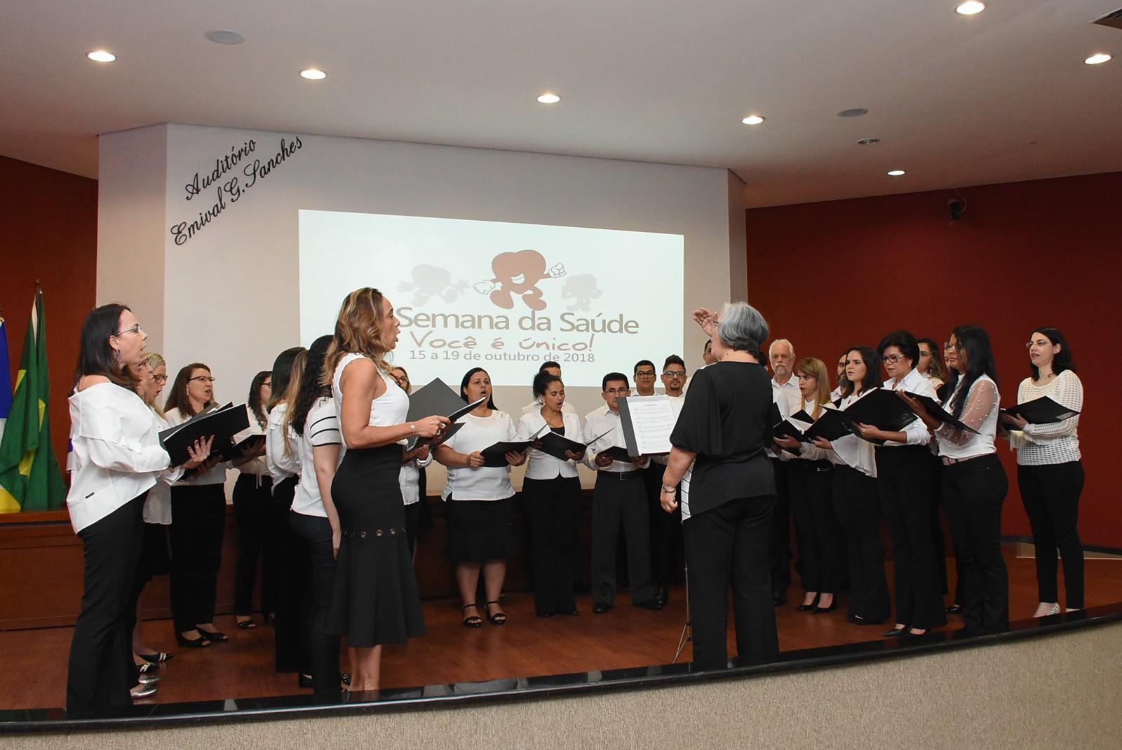 9ª Semana da Saúde é aberta com estreia do coral MP em Canto e palestra motivacional