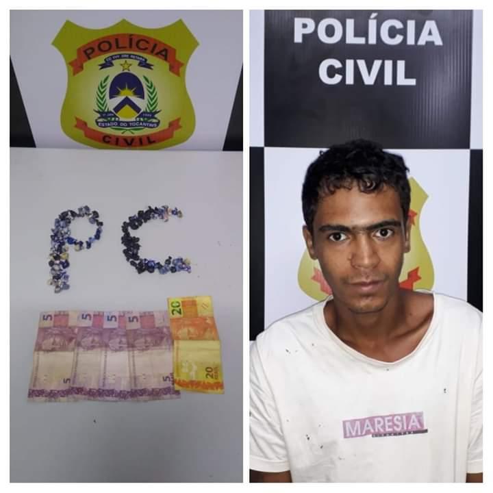 Polícia Civil  de Paraíso do Tocantins tira mais um traficante das ruas