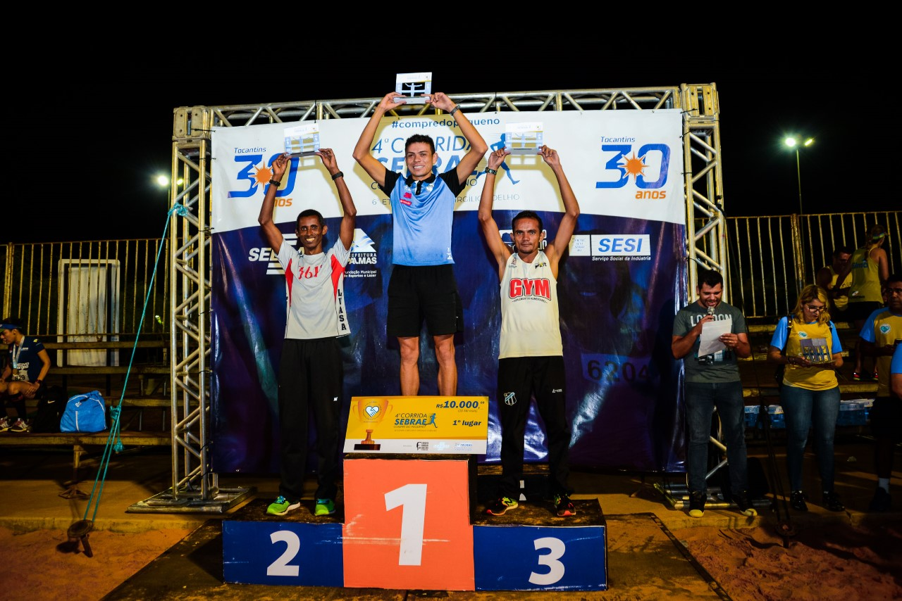Atletas nacionais e tocantinenses brilham na principal modalidade da corrida de rua do Sebrae