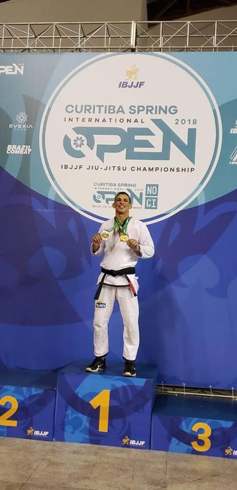 Atleta sargento Caitano conquista 1º lugar em torneio internacional de Jiu Jitsu, em Curitiba