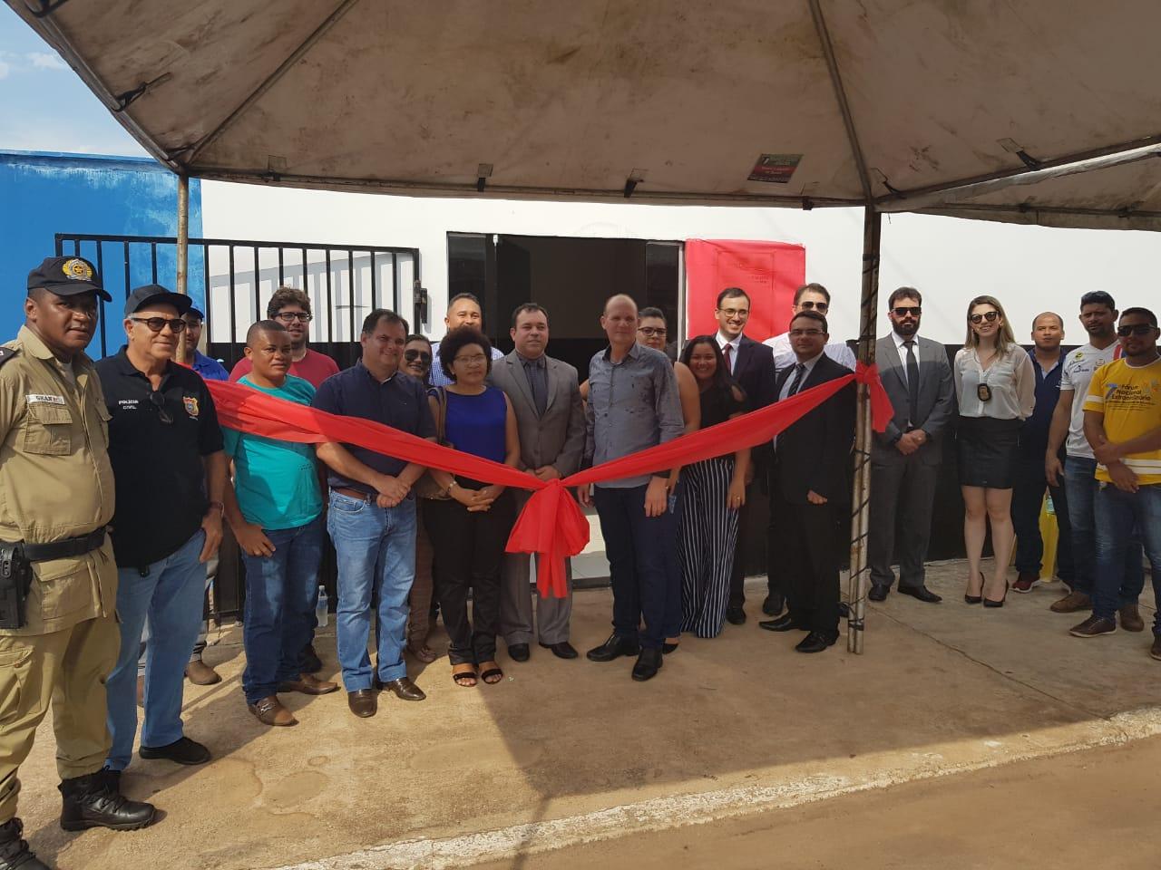 Segurança Pública inaugura delegacia de polícia em Santa Fé do Araguaia (TO)