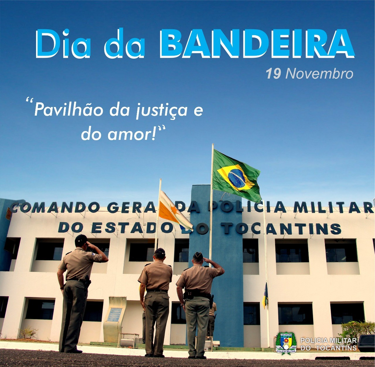 Dia da Bandeira é comemorado por unidades militares no Tocantins