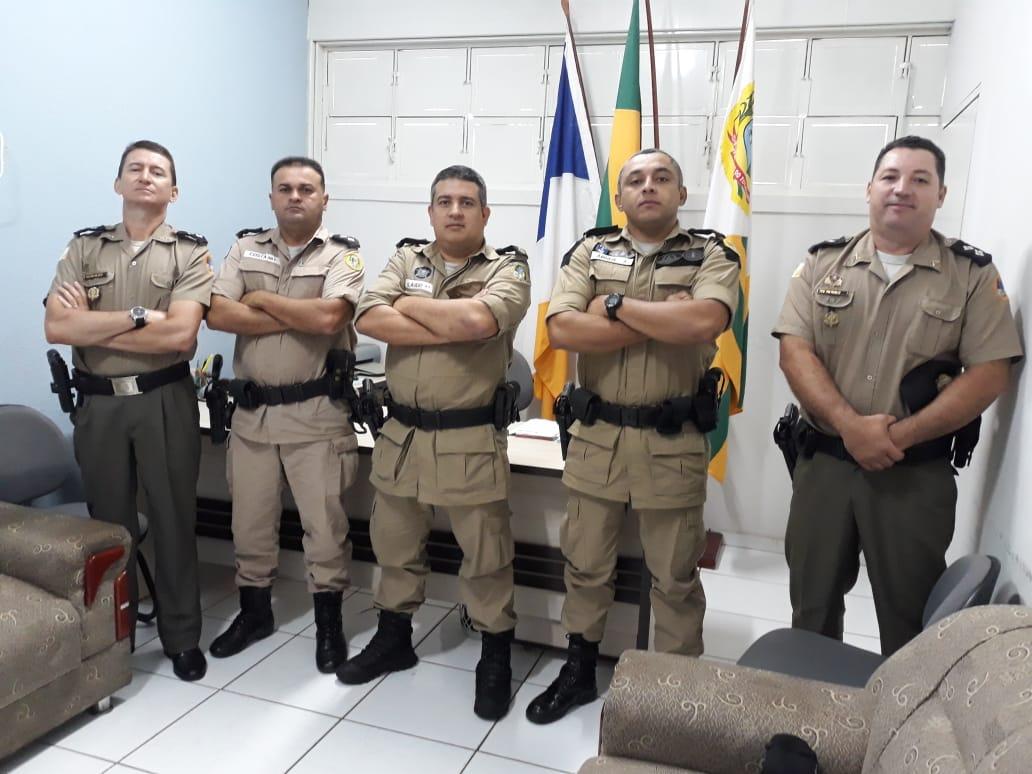 8º BPM em Paraíso recebe visita do Comandante do Policiamento da Capital