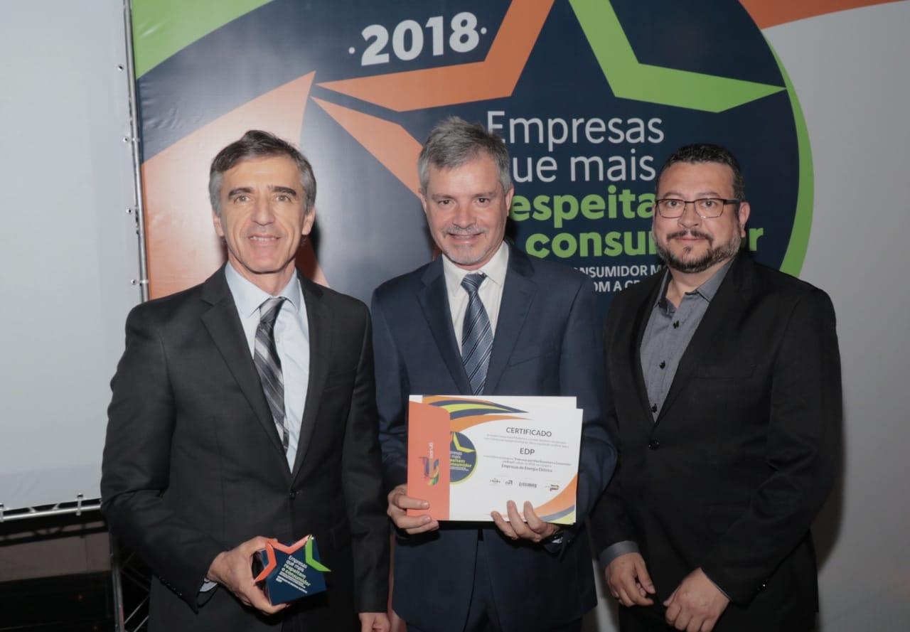 """EDP é eleita a """"Empresa Que Mais Respeita o Consumidor"""" do Brasil, no setor elétrico"""