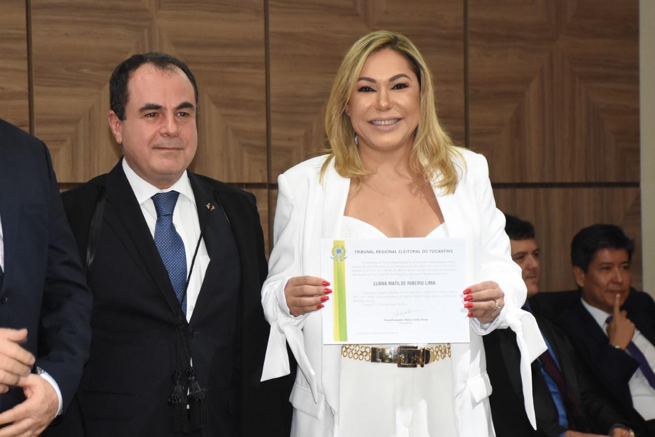Luana Ribeiro é diplomada para seu quarto mandato como Deputada Estadual