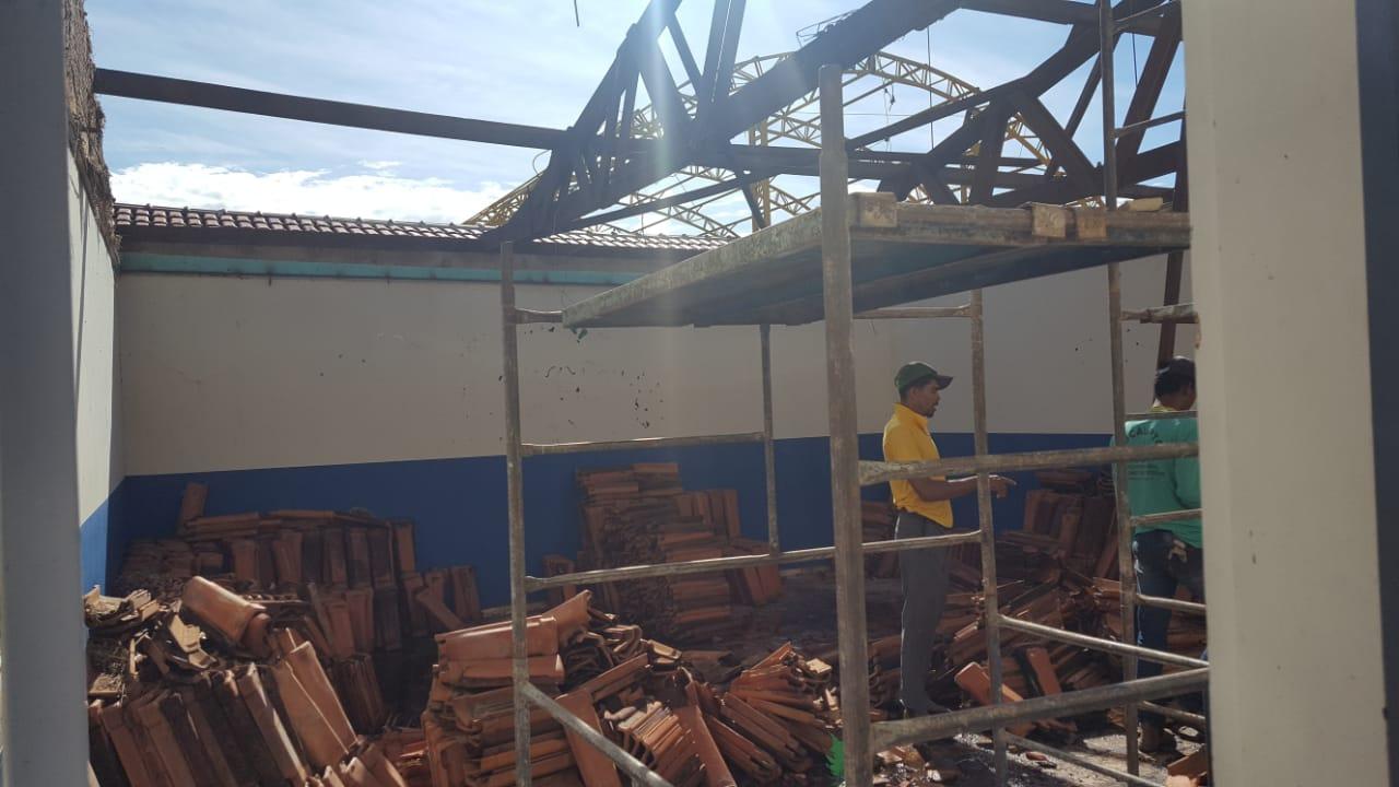 Escola municipal de Chapada de Areia recebe reforma antes do início das aulas
