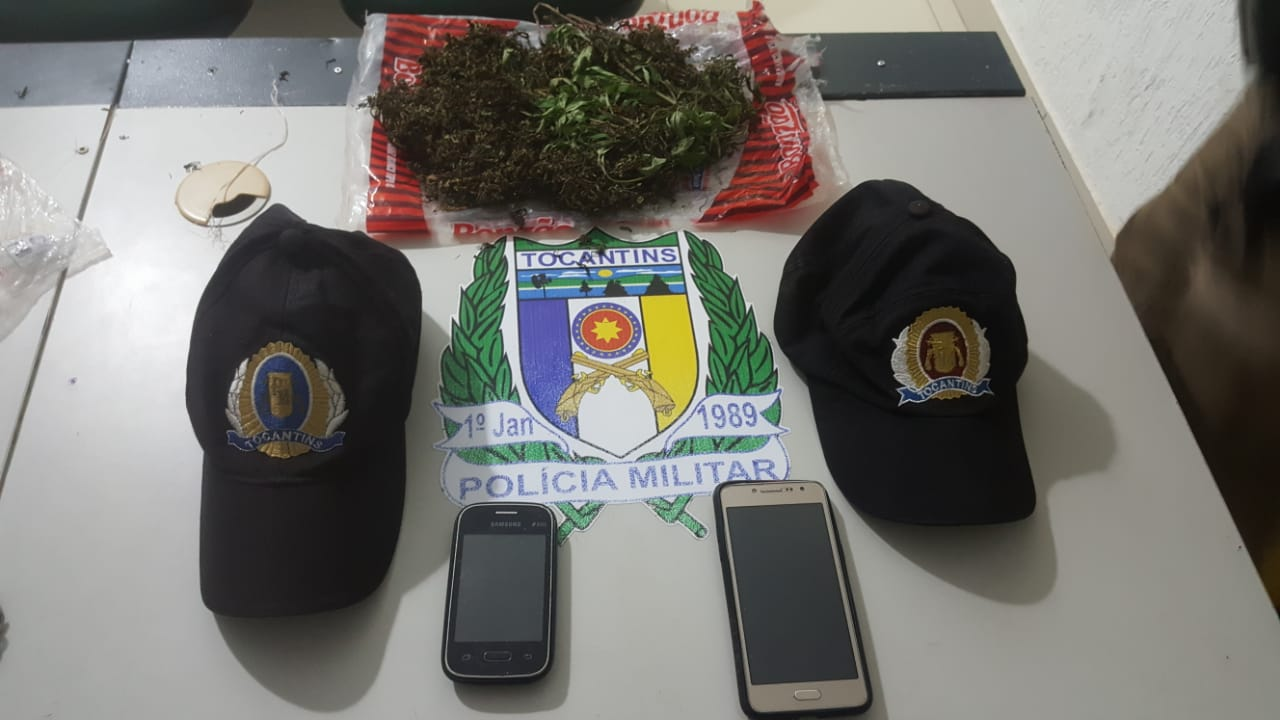Polícia Militar de Tocantinópolis (TO) prende duas pessoas por porte  de entorpecente