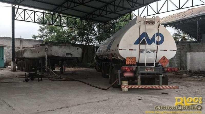 PRF prende suspeitos de roubar carreta de transporte de gasolina em Duque de Caxias
