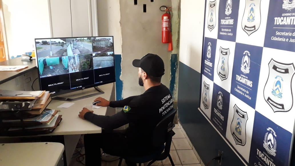 Sistema de monitoramento por câmeras é adotado pela Cadeia Pública de Pium
