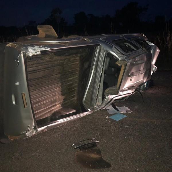 Empresário de Palmas morre após caminhonete capotar na TO-348