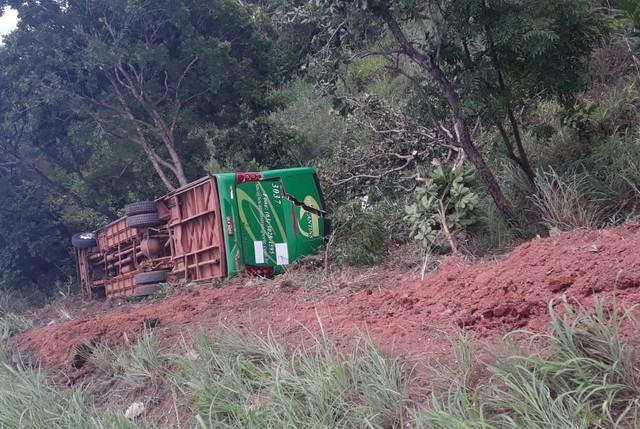 PRF registra acidente com ônibus em Paraíso do Tocantins