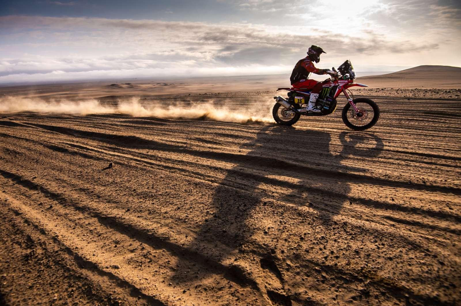 Ricky Brabec retoma a liderança do Dakar 2019 com a moto Honda CRF450 RALLY