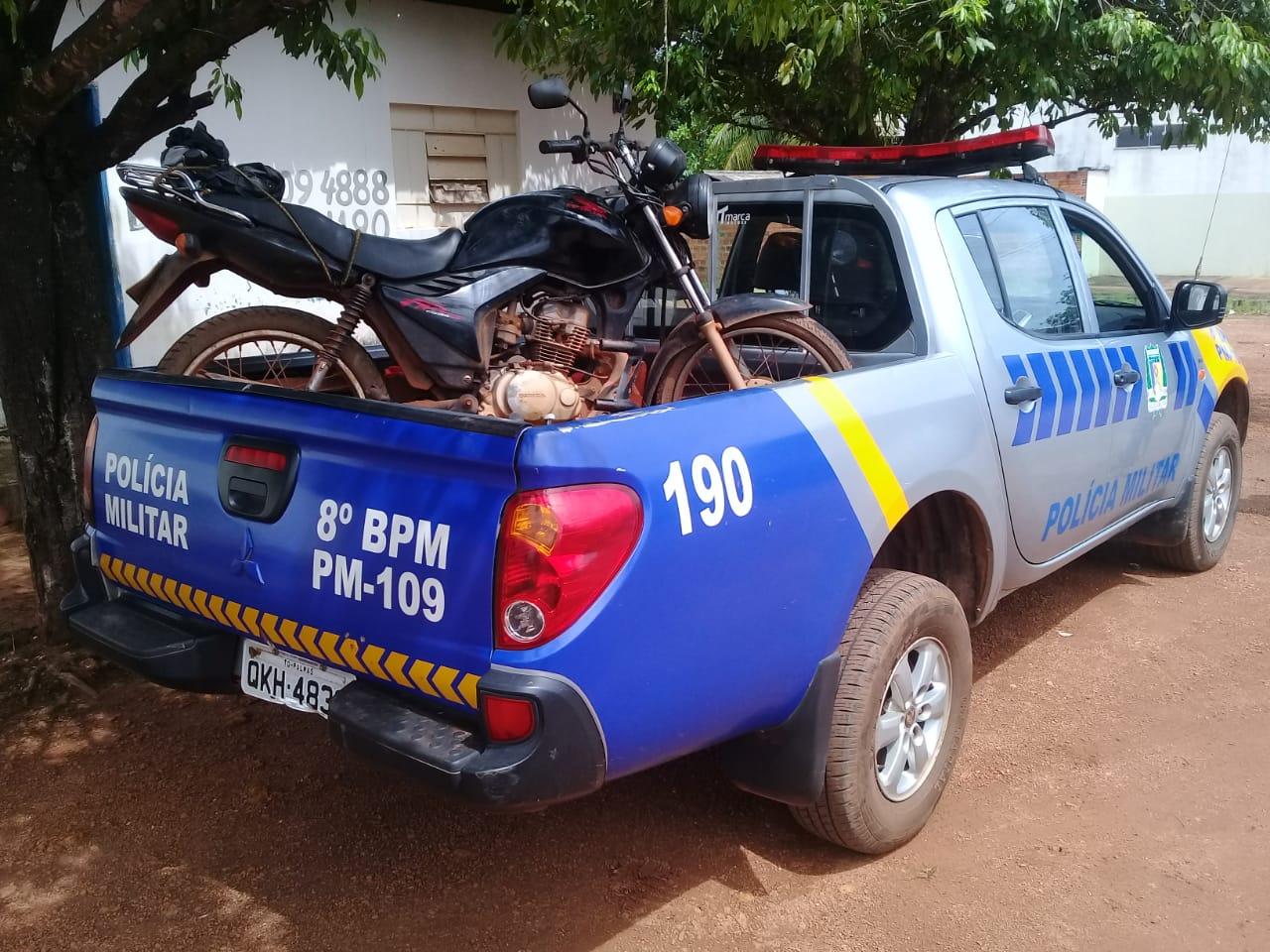 Polícia Militar recupera em Marianópolis mais uma moto roubada