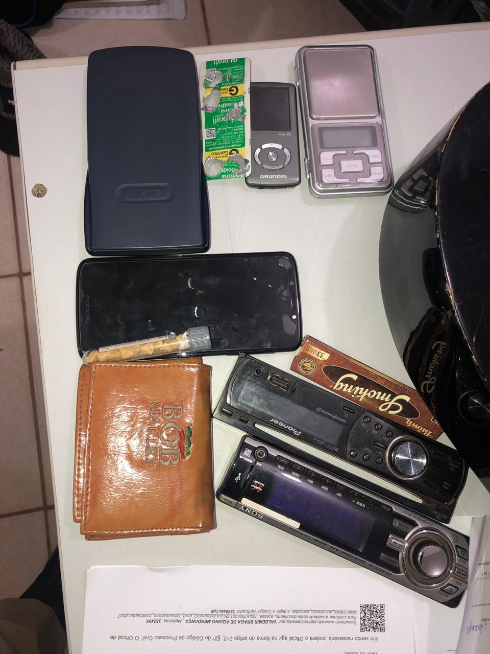 Depois de rastrear celular roubado PM prende suspeito e recupera vários objetos roubados em Palmas